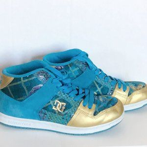 Blue Gold Embroidered Skater Hightops